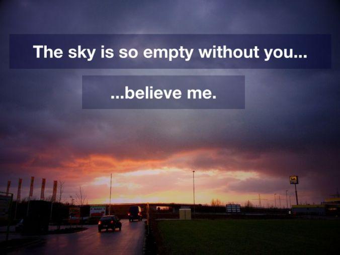 an empty sky I