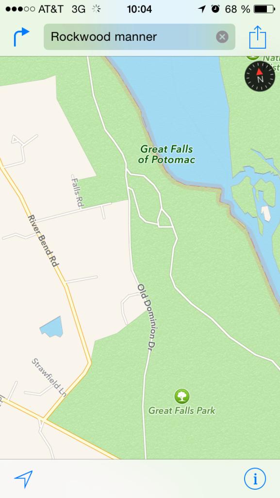 Potomac Falls - North America - Map